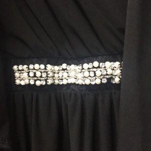 nic & dom Dresses - NWT Black Dress by Nic & Dom Jeweled Waist Sz Lg